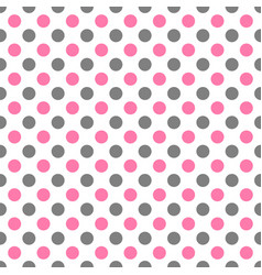 seamless pattern with white polka dots in two vector image