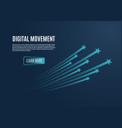 speed movement concept comet flies blue color vector image
