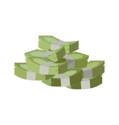 Stack of Money Flat Design vector