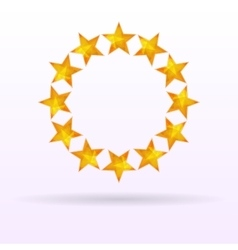 Stars background circle vector image