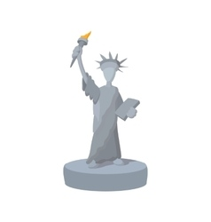 Statue of Liberty cartoon icon vector