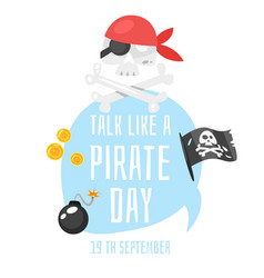 talk like a pirate vector image
