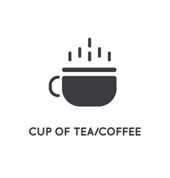 tea or coffee cup hot element or glyph icon vector image