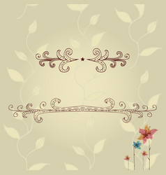Template of greeting card with lace frame vector