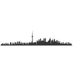 toronto city skyline skyscraper buildings vector image