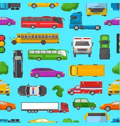 Traffic jam transport car vehicle and bus vector