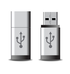 Usb flash vector image