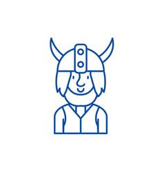 viking line icon concept viking flat vector image