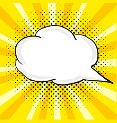 vinage speech bubble in pop vector image