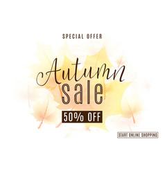 vintage autumn season sale vector image