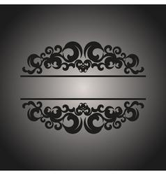 Black vintage pattern on gray background vector