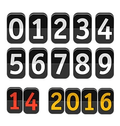 Counter with digits set Flat design vector image vector image