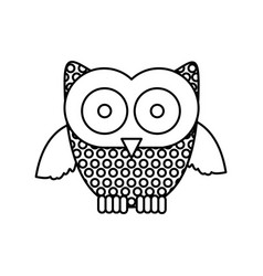figure stamp owl icon vector image vector image