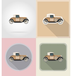 old retro transport flat icons 01 vector image vector image