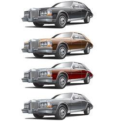 Vintage luxurious car vector image vector image