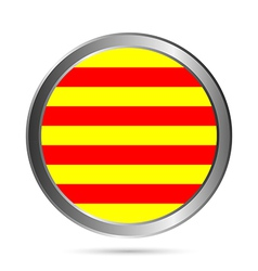 Catalonia flag button vector image vector image