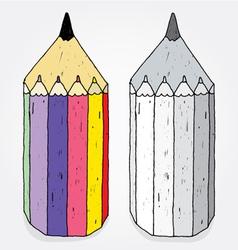 crazy pencils vector image