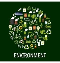 Environmental ecology friendly poster vector image vector image