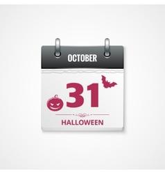 halloween calendar background vector image vector image