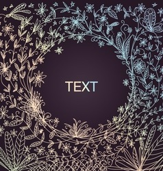 Hand-drawn floral border vector image