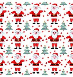santas seamless pattern vector image