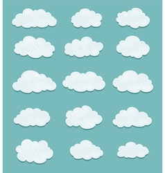 set of lined clouds vector image vector image