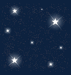 Space Blue Starry Sky vector image vector image