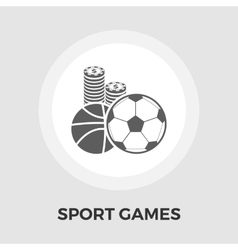 Sport games flat icon vector image vector image