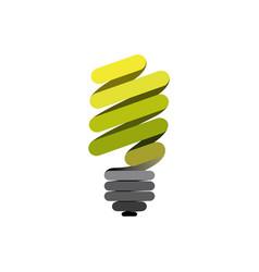sticker eco bulb icon vector image