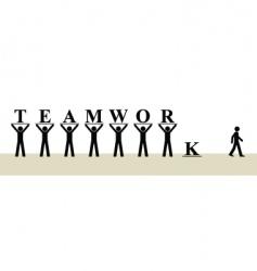 teamwork vector image vector image