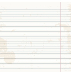 Clean sheet of exercise book striped vector image