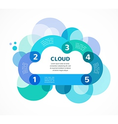 Cloud computing infographic with icons vector image vector image