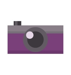 Digital flat photo camera vector image