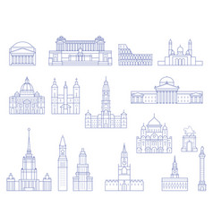 european architecture - buildings cathedrals vector image