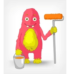 Funny Monster Painter vector image