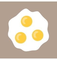 Scrambled eggs Flat icon fried eggs Food for vector image