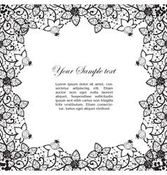 vintage lacy border vector image vector image
