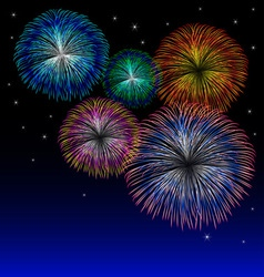 Fireworks background with star vector image