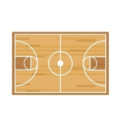 silhouette colorful with basketball field vector image vector image