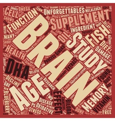 Supplements for brain health brain health research vector