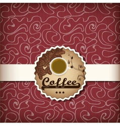 template for a coffee menu vector image
