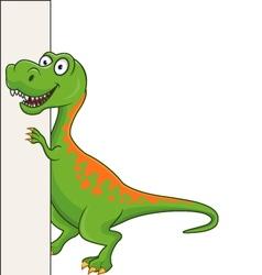 tyranosaurus cartoon vector image vector image