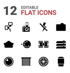 12 shutter icons vector