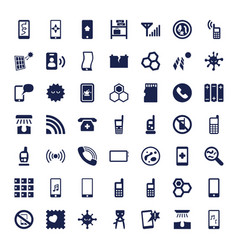49 cell icons vector image