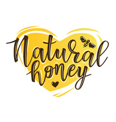 a natural honey lettering vector image