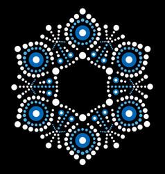 Aboriginal dot painting snowflake design vector