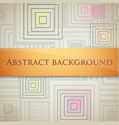 Abstract background with squares and orange label vector