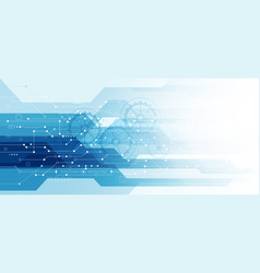 abstract blue technology communication dots and vector image