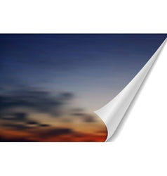 Abstract cloudscape with folded edge vector image