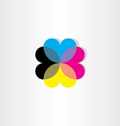 abstract hearts business icon vector image